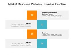 Market Resource Partners Business Problem Ppt Powerpoint Presentation Styles Cpb
