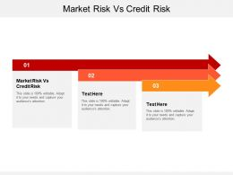 Market Risk Vs Credit Risk Ppt Powerpoint Presentation Slides Cpb