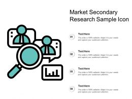 Market Secondary Research Sample Icon