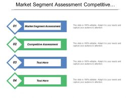 Market Segment Assessment Competitive Assessment Needs Assessment Technology Activities