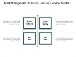 Market Segment Channel Product Service Model Budget Council