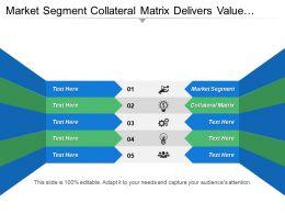 Market Segment Collateral Matrix Delivers Value Build Competitive Advantage