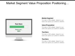 Market Segment Value Proposition Positioning Strategy Marketing Strategy