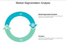 Market Segmentation Analysis Ppt Powerpoint Presentation Gallery Background Cpb