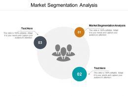 Market Segmentation Analysis Ppt Powerpoint Presentation Outline Vector Cpb