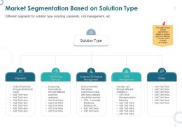 Market Segmentation Based On Solution Type Payments Ppt Powerpoint Presentation Model