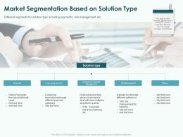 Market Segmentation Based On Solution Type Ppt Powerpoint Presentation Influencers