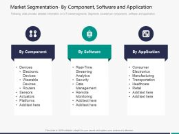 Market Segmentation By Component Software And Application M3304 Ppt Powerpoint Presentation Icon