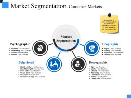 Market Segmentation Consumer Markets Powerpoint Slide