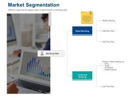Market Segmentation Corporate Banking Ppt Presentation Styles Ideas