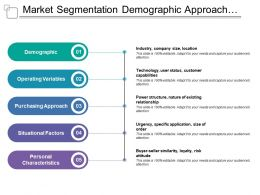 Market Segmentation Demographic Approach Variables Factors Characteristics