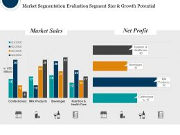 Market Segmentation Evaluation Segment Size And Growth Potential Ppt Background