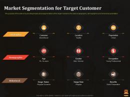Market Segmentation For Target Customer Business Pitch Deck For Food Start Up Ppt Smartart