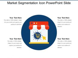 Market Segmentation Icon Powerpoint Slide