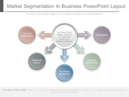 Market Segmentation In Business Powerpoint Layout