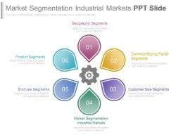 Market Segmentation Industrial Markets Ppt Slide