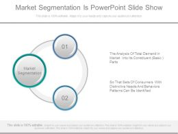 Market Segmentation Is Powerpoint Slide Show