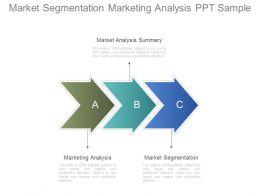 Market Segmentation Marketing Analysis Ppt Sample