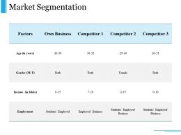 Market Segmentation Ppt Examples Slides