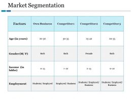 Market Segmentation Ppt Gallery Inspiration