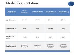 Market Segmentation Ppt Model Examples