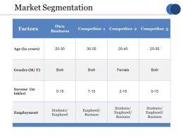 Market Segmentation Ppt Model Examples