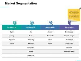 Market Segmentation Ppt Professional Format Ideas