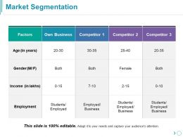 Market Segmentation Ppt Slide Examples