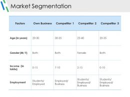 Market Segmentation Ppt Slides Download