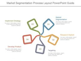 Market Segmentation Process Layout Powerpoint Guide