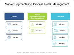 Market Segmentation Process Retail Management Ppt Powerpoint Presentation Model Cpb