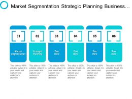 Market Segmentation Strategic Planning Business Administration Project Management Cpb