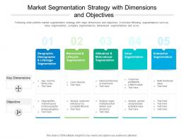 Market Segmentation Strategy With Dimensions And Objectives