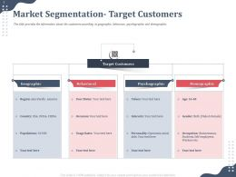 Market Segmentation Target Customers Demographic Ppt Portfolio