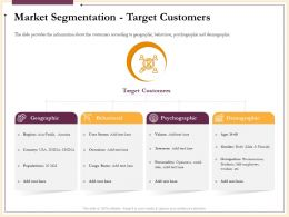 Market Segmentation Target Customers Geographic Powerpoint Presentation Objects