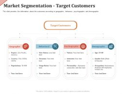 Market Segmentation Target Customers Occasion Ppt Powerpoint Presentation Summary Icons