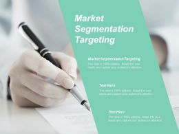 Market Segmentation Targeting Ppt Powerpoint Presentation Gallery Example Cpb