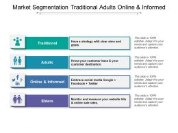 Market Segmentation Traditional Adults Online And Informed