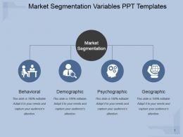 Market Segmentation Variables Ppt Templates