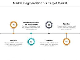 Market Segmentation Vs Target Market Ppt Powerpoint Presentation Portfolio Layouts Cpb