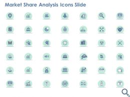 Market Share Analysis Icons Slide Ppt Powerpoint Presentation Visual Aids Infographic