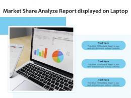 Market Share Analyze Report Displayed On Laptop