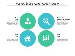 Market Share Automobile Industry Ppt Powerpoint Presentation Styles Diagrams Cpb