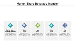 Market Share Beverage Industry Ppt Powerpoint Presentation Infographic Template Graphics Design Cpb