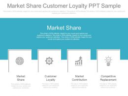 Market Share Customer Loyalty Ppt Sample