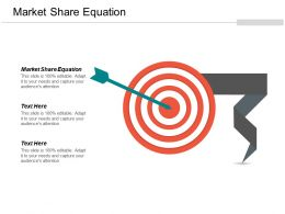 Market Share Equation Ppt Powerpoint Presentation Gallery Graphics Pictures Cpb