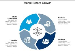 Market Share Growth Ppt Powerpoint Presentation Infographics Professional Cpb