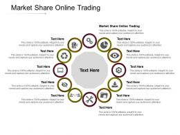 Market Share Online Trading Ppt Powerpoint Presentation Summary Show Cpb