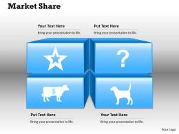 Market Share Powerpoint Template Slide