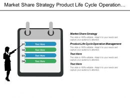 Market Share Strategy Product Life Cycle Operation Management Cpb